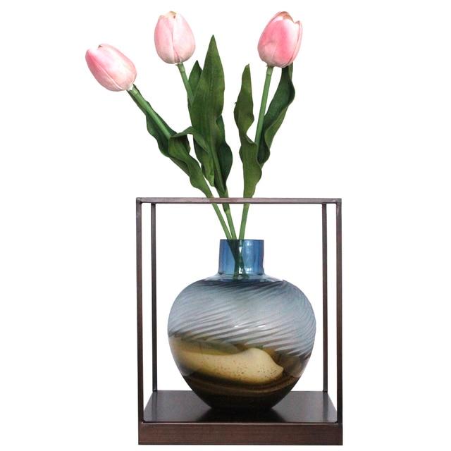 Original Color Hand Carved Glass Vase Glass Flowers Vase Hanging