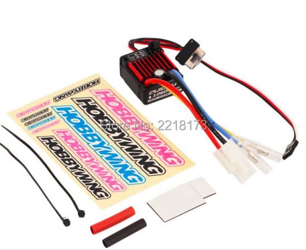 все цены на 1pcs 100% Original HobbyWing QuicRun 1:10 Brushed 60A QuicRun 1060 60A Electronic Speed Controller ESC 1060 RC Car Waterproof онлайн