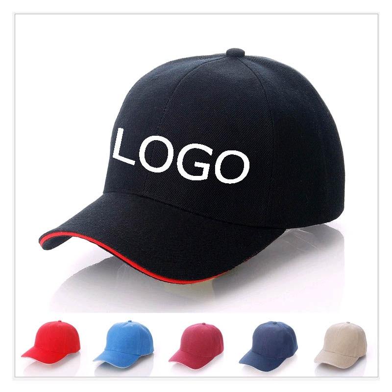 10pcs A Lot Can Mix Colors Customized Baseball Caps Logo