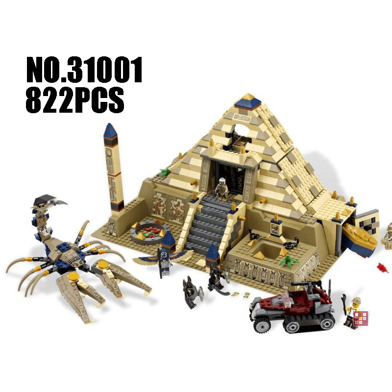 Compatible Legoe 7327 Egypt Pharaoh Series Lepin 31001 822pcs Scorpion Pyramid building blocks Figure Brick toy for children lepin 562pcs building blocks toy tie fighter diy assemble figure educational brick brinquedos for children compatible legoe
