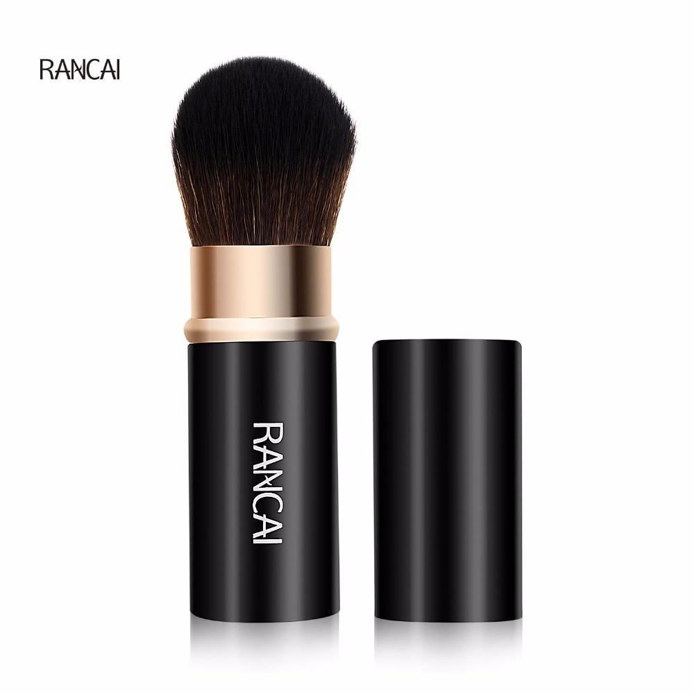 RANCAI 1pcs Small Retractable Makeup Brushes Powder Foundation Blending Blush Face Kabuki Brush Cosmetic Tools