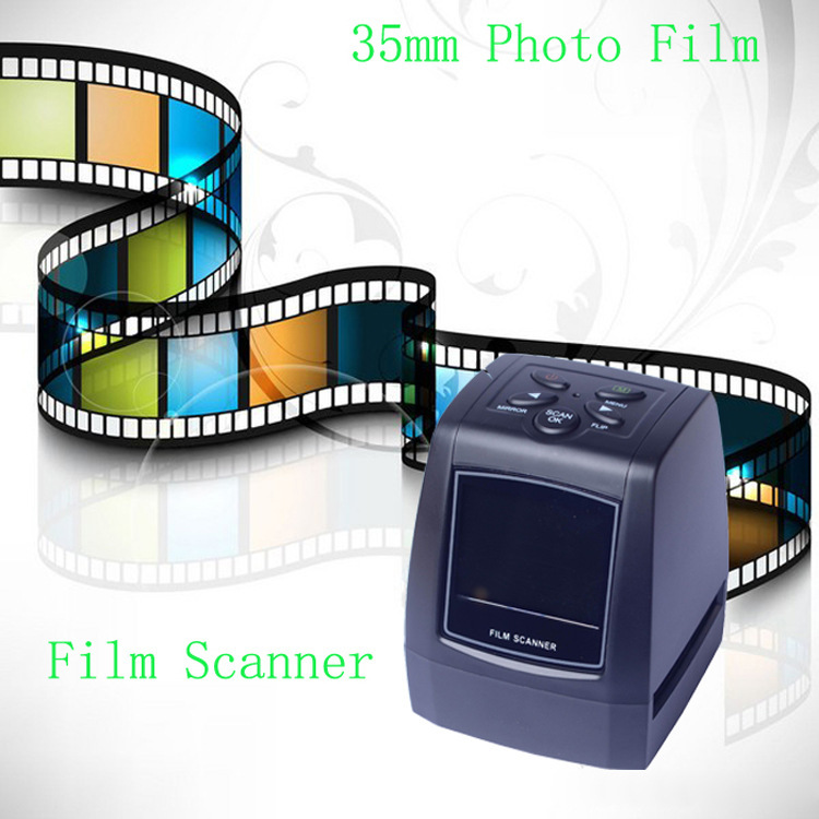 5MP 10MP 35mm Tragbare Sd-karte Film Scan Foto Scanner Negative Film Rutsche Viewer Scanner USB MSDC Film Monochrome rutsche FC718