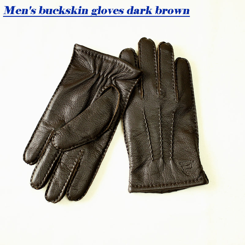 Image 4 - Guantes Winter Gloves Leather Gloves Men All Handmade Deerskin Lining Stripes Style Soft Delicate Price Concessions Direct-in Men's Gloves from Apparel Accessories on AliExpress