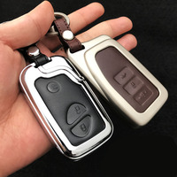 Zinc Alloy Leather Car Styling Key Cover Case For Lexus RX IS ES NX GS GX