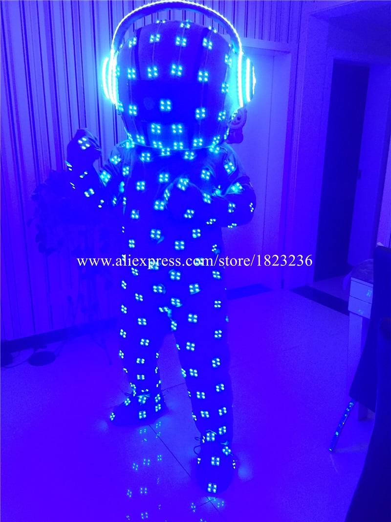 Volle Farben LED blinkend leuchtend leuchten Kostüm Kleidung - Partyartikel und Dekoration - Foto 4