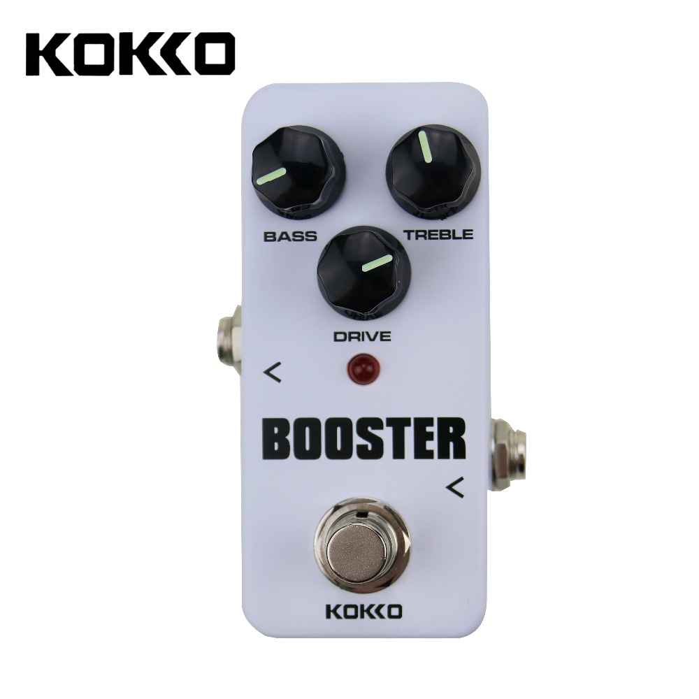 Portable KOKKO FBS2 Mini Booster Pedal 2-Band EQ Guitar Effect Pedal kokko frb2 mini space pedal portable guitar effect external ac adapter delivering 9v dc regulated guitar parts