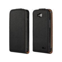 Luxury Genuine Real Leather Case Flip Cover Mobile Phone Accessories Bag Retro Vertical For LG L90 Series III PS