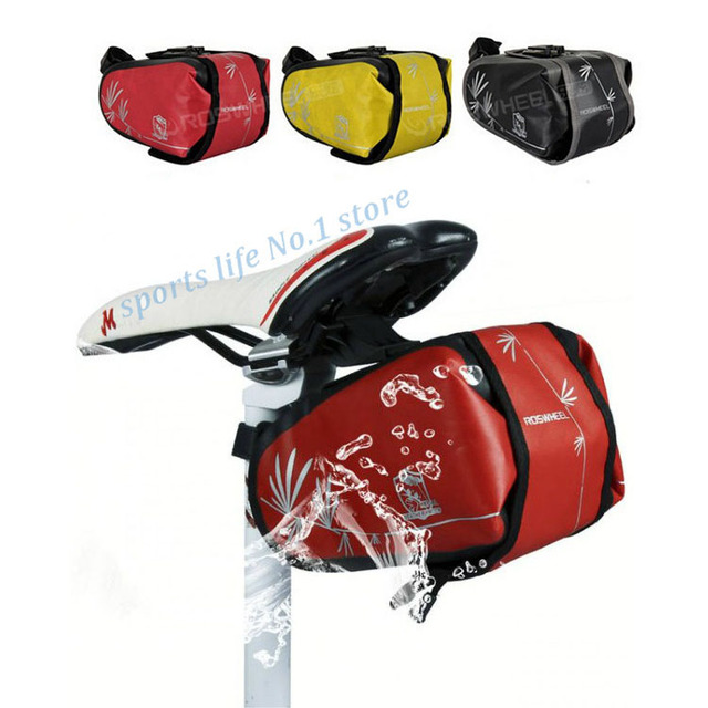 High Quality ROSWHEEL Waterproof Cycling Bicycle Bike Saddle Outdoor Pouch Rear Back Seat Bag Bicycle Tail Bag