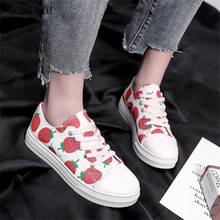 ARSMUNDI 2019 Spring autumn canvas womens casual shoes fashion comfortable breathable flat Strawberry sneakers M507