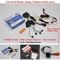 For Ford Fiesta / Kuga / Galaxy - Car Parking Sensors + Rear View Back Up Camera = 2 in 1 Visual Alarm Parking System