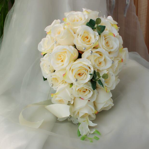 Bride Holding Flower Wedding Wedding Holding Artificial Flower White