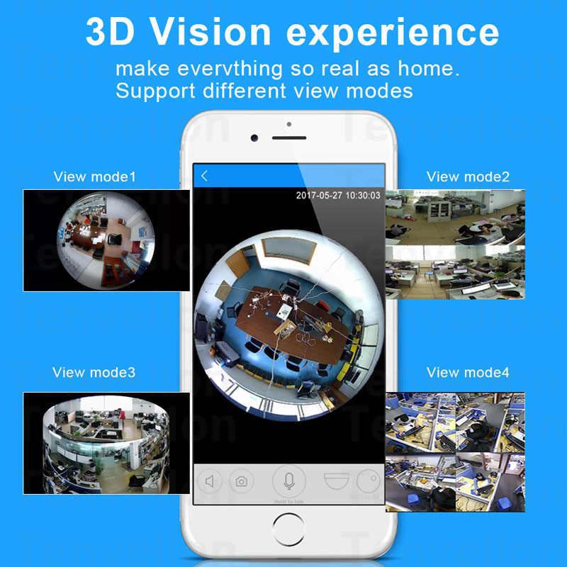 V380 ламповый светильник Беспроводная ip-камера рыбий глаз HD 960P 360 градусов умный дом CCTV VR камера Домашняя безопасность WiFi камера панорамная