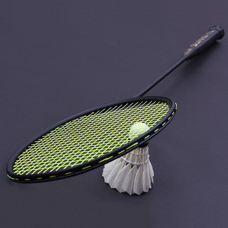 LOKI 7U 67g 28LBS Ultra light Black Badminton Racket Full Carbon Badminton Racquet with String Bag