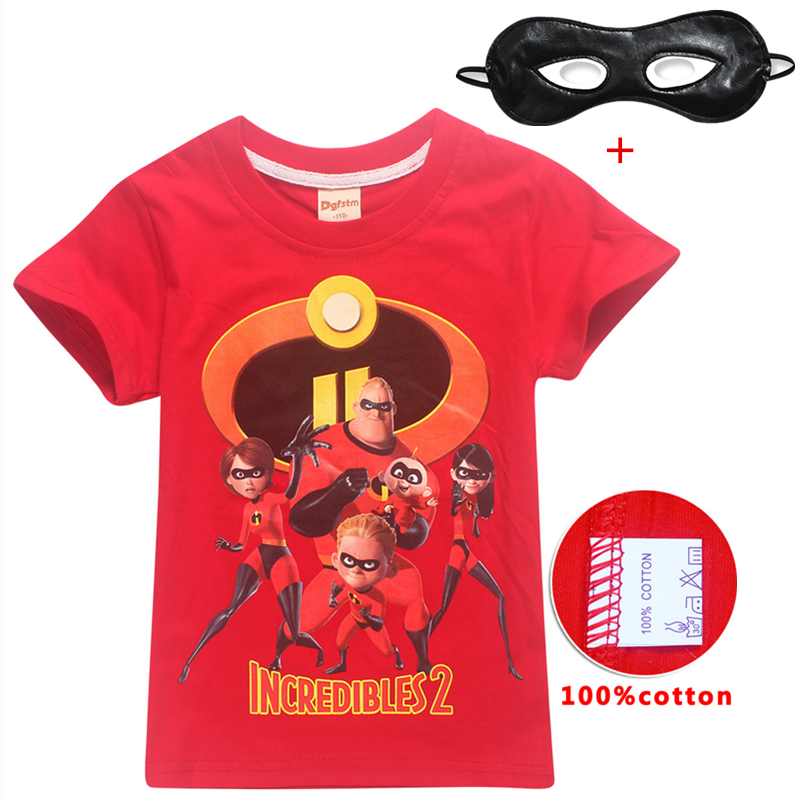 Summer New hot sale The Incredibles 2 Moana Ladybug Girls pure cotton t shirt for boys baby girls cartoon children clothesSummer New hot sale The Incredibles 2 Moana Ladybug Girls pure cotton t shirt for boys baby girls cartoon children clothes