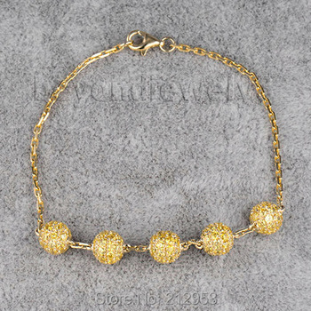 4f46270b0316 Piedras preciosas joyas pulsera 18kt oro amarillo pulseras micro Pave  ajuste pulsera citrino Joyería fina na0020