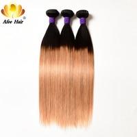 Ali afee волосы 1B/27 блонд цвет пучки волос