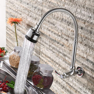 Image 2 - Free Shipping!In wall mounted Copper kitchen faucet. fold expansion. DIY kitchen sink tap.Washing machine shower faucet 1pcs/lot
