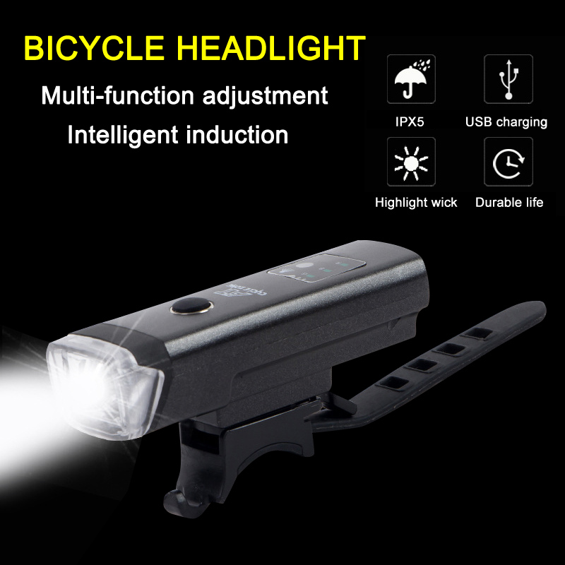 2019 Bike Front Light USB Rechargeable Waterproof Bicycle Headlight For Cycling ALS88