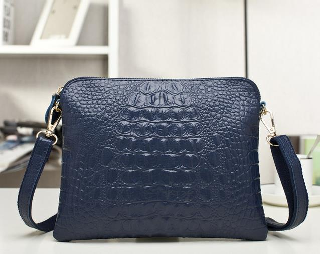 Crocodile Clutch Messenger Bags Handbags Women Famous Brands Genuine Leather Solid Shoulder/Crossbody Bag Female Bolsa Feminina