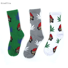 Men Women Comedy Portrait Weed Calcetines Pirate Cotton Sock Fashion  Skateboard