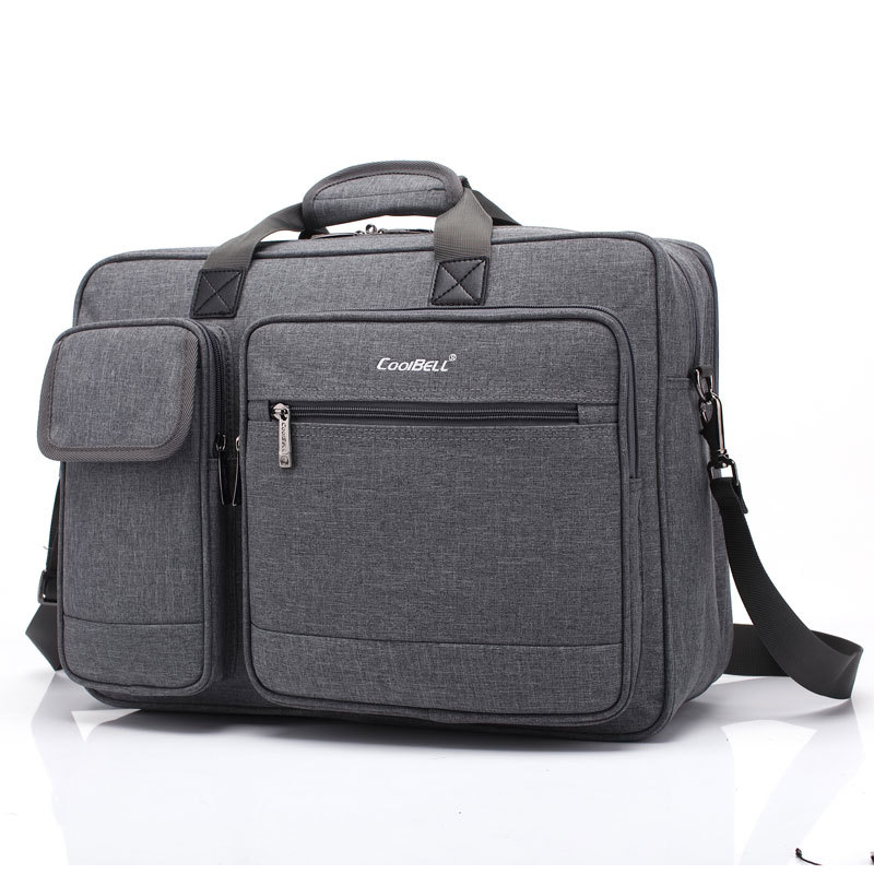 CoolBell 17.3 Inch Laptop Briefcase Protective Messenger Bag Nylon Shoulder Bag Multi-functional Hand Bag For Laptop / Ultrabook
