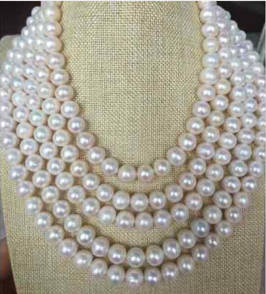 Beautiful 100 10-11 mm round white pearl necklaceBeautiful 100 10-11 mm round white pearl necklace