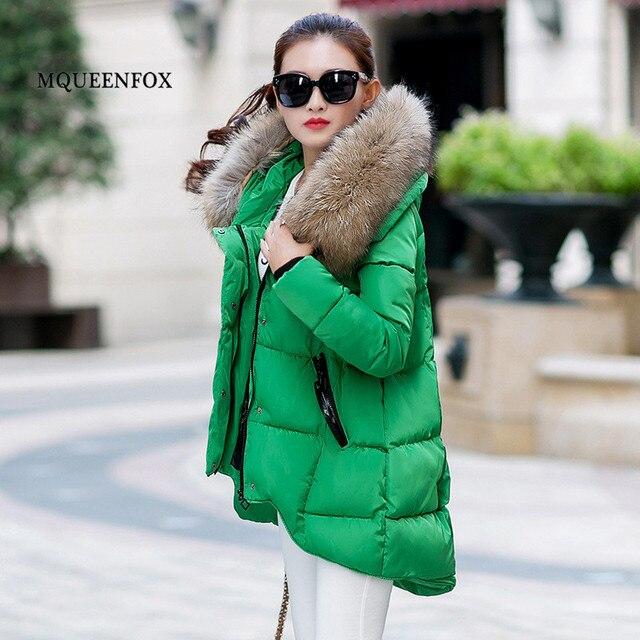 New Price 2018 New Winter Down Jacket Women Winter Warm Fur Collar Jacket Women Casual Loose Cotton parkas hiver femme  Plus Size