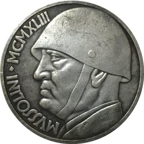 1943 Italien 20 Lire Münzen Kopieren 355mm In 1943 Italien 20 Lire