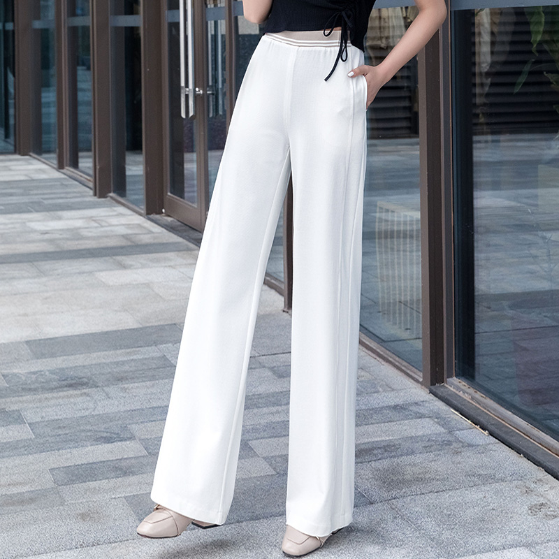 Wihte   Pants   Women 2019 summer high waist plus size 5XL   Wide     Leg     Pants   elastic waist casual loose trousers women harajuku   pants