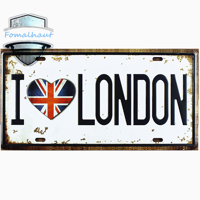 Vintage Car Plate  I LOVE LONDON  Wall Art Craft Vintage Metal Signs for Bar  sc 1 st  AliExpress.com : decorative car plates - Pezcame.Com