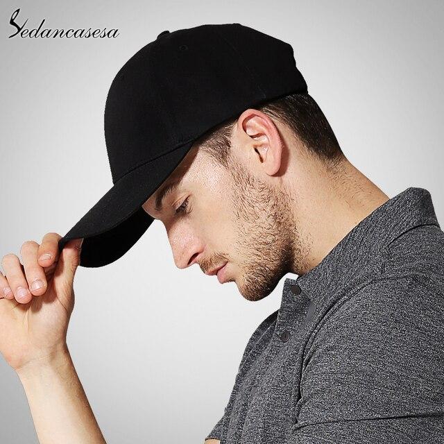 bd9cbf9c43c Black Adult Unisex Casual Solid Adjustable Baseball Caps Snapback hats for  men baseball cap women men