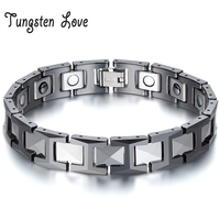 Wholesale Jewelry Mens Germanium Health Magnetic Therapy Radiation Fatigue Bracelet Tungsten Ceramic Bracelet pulsera hombre