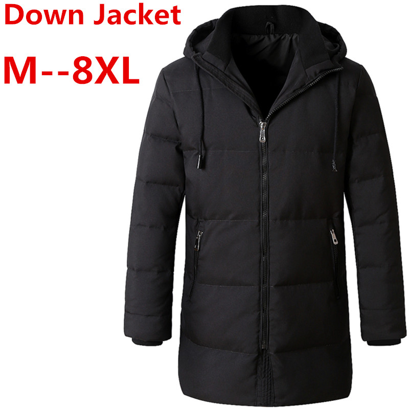 10XL 8XL 6XL winter High Quality 90% White Duck Down Jacket men coat Snow wellestern parkas male Warm Brand Clothing Down Jacket