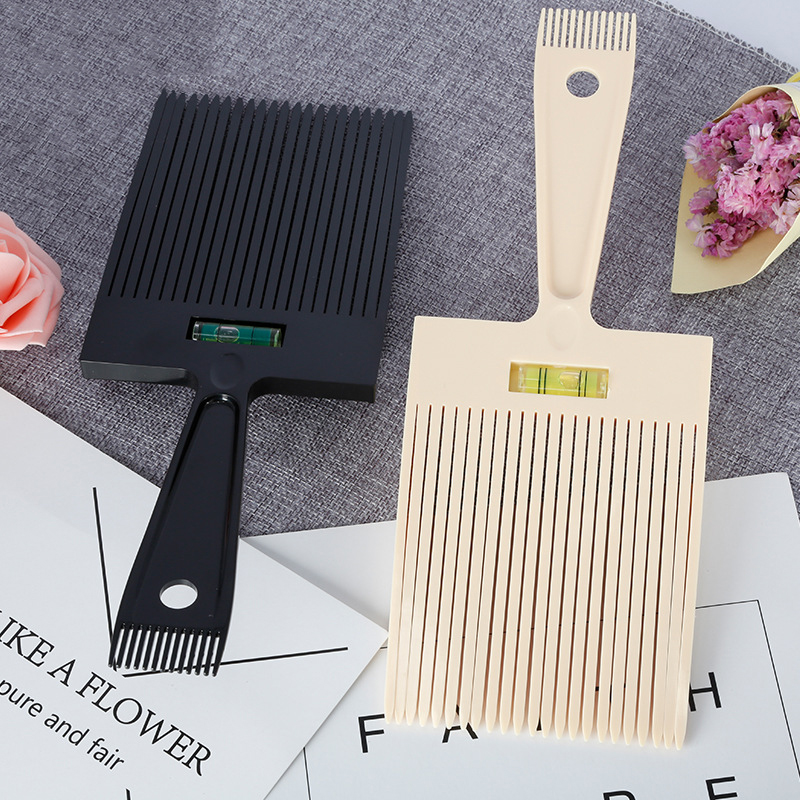 Thick & Wide Tooth Flat Comb Barber Salon Hairstyling Dyeing Coloring Fork Combs Insert Pick Afro Hairbrush Curly Fluffy U1061
