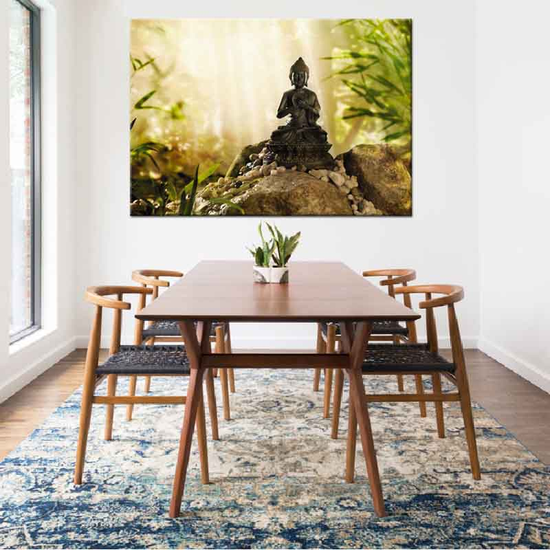Buddha Meditation Canvas Print Painting Zen Art Picture Traditional Religious Belief Artwork For Living Room Wall Decor 1 Piece In Calligraphy