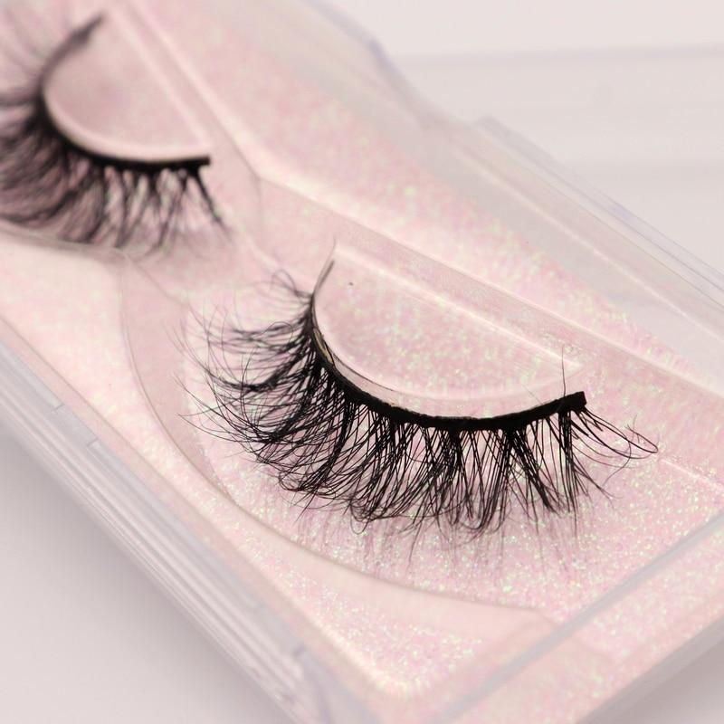Mink Lashes 3D Mink Eyelashes 100% Cruelty Free Lashes Handmade Reusable Natural Eyelashes Popular False Lashes Makeup E1- E13