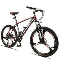 マウンテンバイクのアルミ合金フレーム 26 インチ 24 スピードフロントとリア機械式ディスクブレーキ大人クロスカントリー自転車