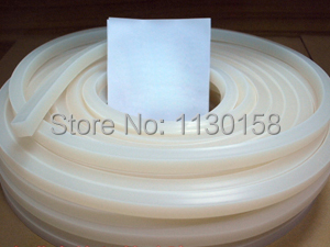 5X15mm TOP Quality Square Silicone Rubber Strip Silica Rod Silicon Cord Silicone Bar, Milky White Color