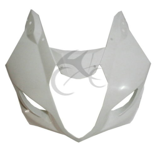 ABS Plastic Upper Front Fairing Cowl Nose For SUZUKI GSXR1000 2003-2004 White for suzuki gsxr1000 k9 2009 2010 abs plastic motorcycle rear seat cover fairing cowl