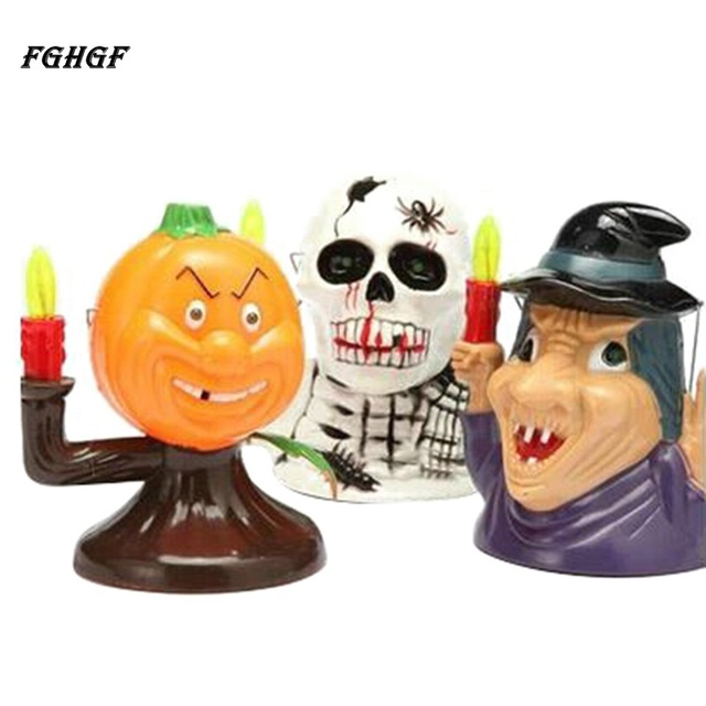 Geluiden Halloween.Us 6 69 19 Off Fghgf Halloween Pompoen Schedel Heks Lantaarn Met Spooky Scary Geluiden Lantaarn Licht Hand Draagbare Nachtlampje Ghost Party Decor