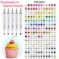 TOUCHNEW 7-й выбор  любые 10/20/30 цветов  спиртовые скетч-маркеры с двойной головкой для рисования манги  Дизайнерские товары для рукоделия