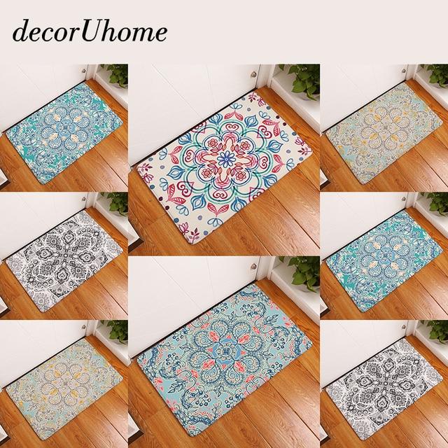 Wonderful DecorUhome Bohemia Anti Slip Waterproof Door Mat Rose Paint Flower Carpets  Bedroom Rugs Decorative Stair