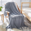 100% хлопок  сплошной цвет  вязаный  домашний декоративный пледы  одеяла  диван  стул  самолет  пледы  плед  одеяла