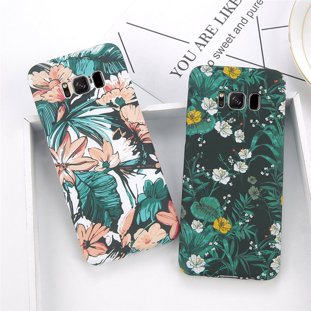 Green Leaves Phone Case samsung s8 s9 plus