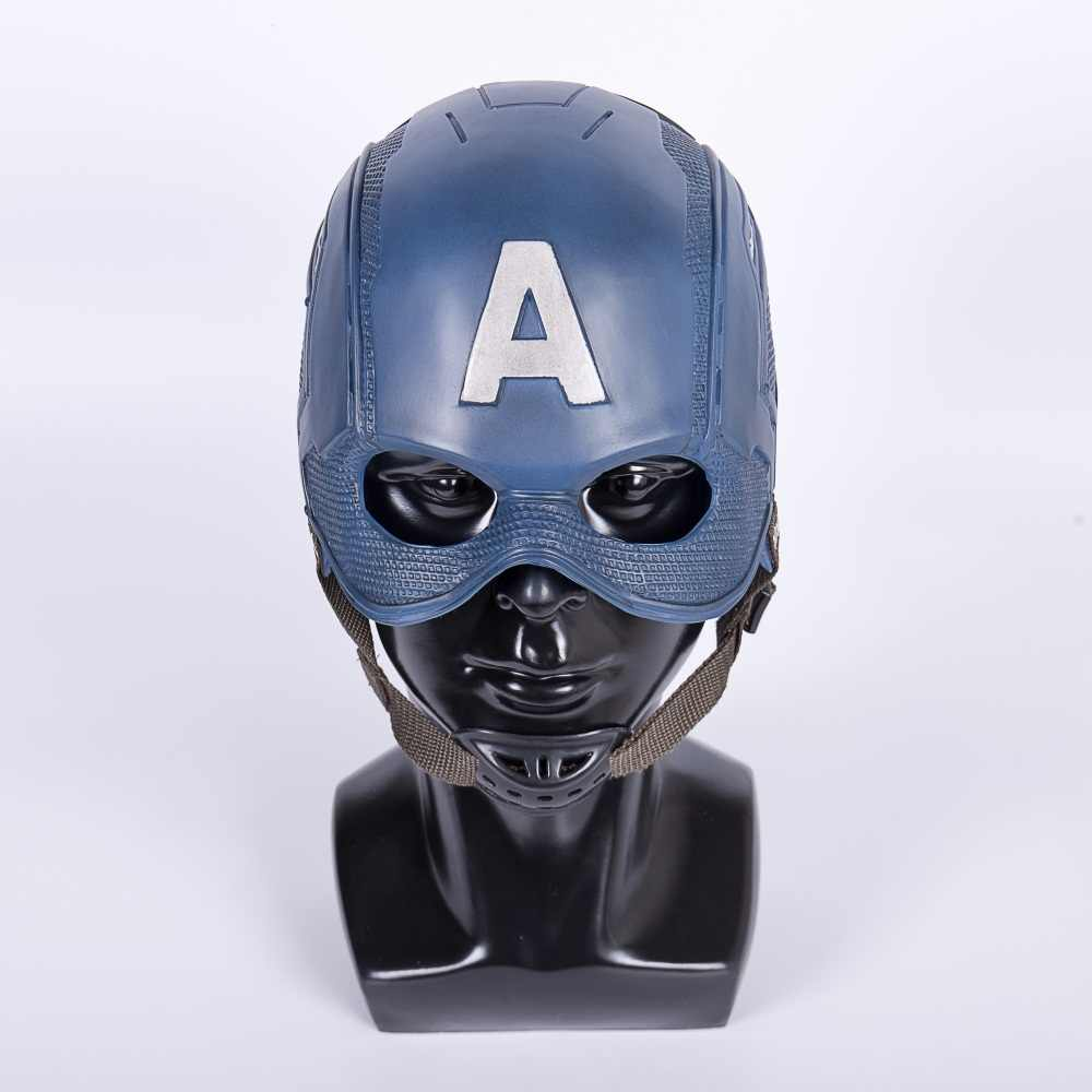 2018 Superhero Helm Captain America Civil War Helm Masker Cosplay Steven Rogers Halloween Helm untuk Koleksi