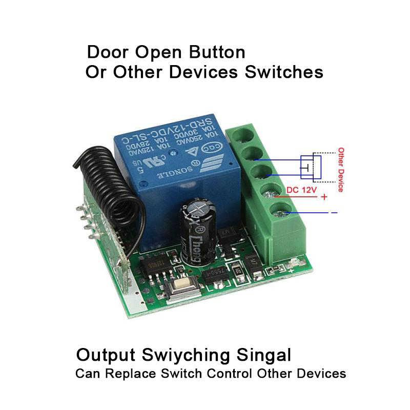 QIACHIP 433 MHz DC 12 V 1CH RF تتابع وحدة العالمي اللاسلكية التحكم عن بعد التبديل المنزل الذكي تحكم استقبال ل بوابة باب