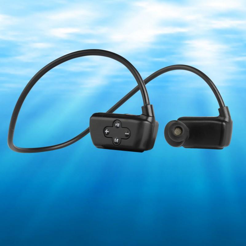 Fashion Outdoor IPX8 Dustproof Waterproof MP3 Player Sport MP3 Headphone HiFi Music 8G Memory Swimming Diving Running Earphones