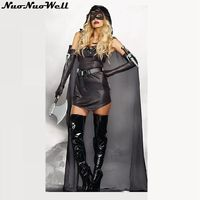Black Thief Costume For Women Adult Leotard Female Cosplay Unitard Halloween Party Masked Prisoner Uniforms with Cloak &Mask