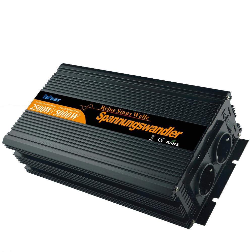 2500 5000 Watt Rein Sinus Wechselrichter spannungswandler DC 12V auf 230V inverter high quality