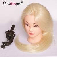 Blonde 55cm 80 Human Hair Hair Styling Mannequins Mannequain Head High Quality Female Manikin Training Head